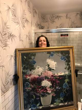 Do you think this picture works well in this bathroom? Just kidding! Thanks Tony