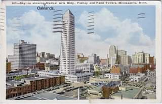 """Thanks Mike for sharing this postcard that was, well """"posted,"""" on an old Minneap"""